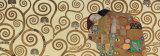 Fulfillment, Stoclet Frieze, c.1909 (detail) Prints by Gustav Klimt