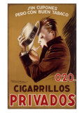 Cigarillos Privados Giclee Print by Achille Luciano Mauzan