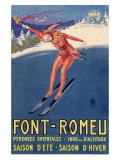 Font-Remeu, Saison d'Hiver Giclee Print by Achille Luciano Mauzan