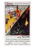 The Flying Scotsman, Then and Now Giclee Print