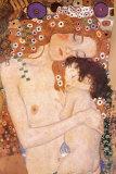 Mutter und Kind Poster von Gustav Klimt