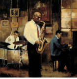Latin Quarter Jazz Art by Myles Sullivan