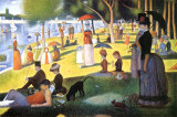 Sunday Afternoon on the Island of La Grande Jatte Plakat af Georges Seurat
