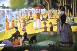 Tarde de domingo en la isla de la Grande Jatte Afiche por Georges Seurat