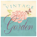 Vintage Garden Sign Prints by Tessa Kane