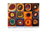 Wassily Kandinsky - Barevná studie čtverců (Farbstudie Quadrate, cca1913) Plakáty