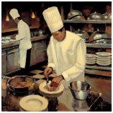 Bistro Cuisine Print by Myles Sullivan