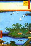 Inlet At Awa Province ポスター : 安藤広重(歌川広重)