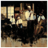 French Quarter Jazz Poster by Myles Sullivan