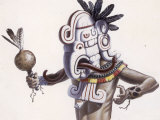 Mayan Indian Wears a Mask That Reflects a Deity Giclee Print by Terry Rutledge
