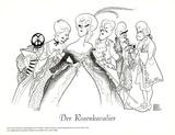 Der Rosenkavalier, with Pavarotti Poster by Al Hirschfeld
