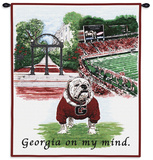 University of Georgia Bulldog, Georgia on My Mind Wall Tapestry