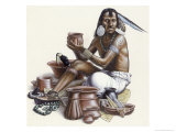Mayan Merchant of El Mirador Giclee Print by Terry Rutledge
