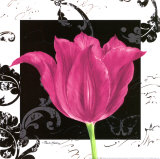 Damask Tulip IV Art par Pamela Gladding