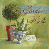 Garden Herbs Mounted Print by Angela Staehling