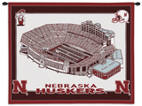University of Nebraska Stadium Wall Tapestry