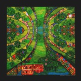 Green Town, c.1978 Posters by Friedensreich Hundertwasser