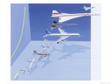 Speeds of Different Aircrafts Premium Giclee Print by Fred Wolff