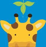 Girafe, Peek-a-Boo VII Poster par Yuko Lau