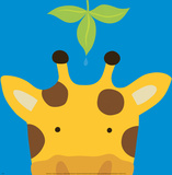 Kuckuck VII  hier ist die Giraffe|Peek-a-Boo VII, Giraffe Poster von Yuko Lau