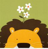 Kuckuck IX – hier ist der Löwe|Peek-a-Boo IX, Lion Kunstdruck von Yuko Lau