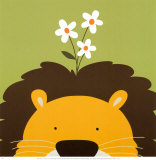 Peek-a-Boo IX, Lion Print by Yuko Lau