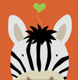 Kuckuck XII – hier ist das Zebra|Peek-a-Boo XII, Zebra Kunstdrucke von Yuko Lau