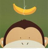 Kiekeboe X, Aap met banaan Posters van Yuko Lau