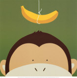 Peek-a-Boo X, Monkey Posters by Yuko Lau