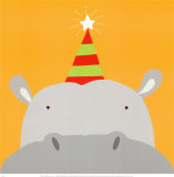 Peek-a-Boo VIII, Hippo Prints by Yuko Lau