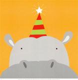 Peek-a-Boo VIII, Hippo Prints by Yuko Lau