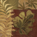 Tropical Foliage I Art by Pamela Gladding