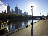 Yarra River with Cbd in Background, Melbourne, Victoria, Australia Photographic Print by David Wall