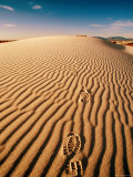 Bootprints on a Sand Dune, White Sands National Monument, New Mexico Photographic Print by Mark Newman