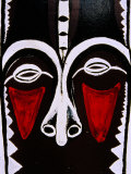 Detail of Painted Pillar at City Market, Efate Island, Shefa, Vanuatu Photographic Print by Richard I'Anson