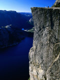 Preikestolen 600M Above Lysefjord, Lysefjord, Rogaland, Norway Photographic Print by Anders Blomqvist