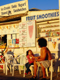 Boardwalk Ice-Cream Shop on Pacific Beach in San Diego, San Diego, California Photographic Print by Richard Cummins