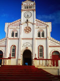 Facade of Church, Vava'U Group, Tonga Photographic Print by Peter Hendrie