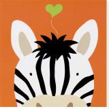 Peek-a-Boo XII, Zebra Trykk på strukket lerret av Yuko Lau
