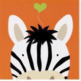 Peek-a-Boo XII, Zebra Stretched Canvas Print by Yuko Lau