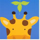 Girafe, Peek-a-Boo VII Reproduction transférée sur toile par Yuko Lau
