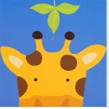 Peek-a-Boo VII, Giraffe Stretched Canvas Print by Yuko Lau