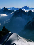 Looking toward Matterhorn from Aiguille du Midi, Chamonix, Rhone-Alpes, France Photographic Print by David Tomlinson