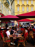 People at Outdoor Restaurant on Cours Saleya on French Riviera, Nice, France Photographic Print by Glenn Van Der Knijff