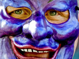 Mask at New Orleans Mardi Gras Parade, New Orleans, Louisiana, Photographic Print