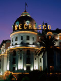 Hotel Negresco at Night, Nice, Provence-Alpes-Cote d'Azur, France Photographic Print by David Tomlinson