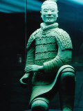 Life Size Terracotta Statue Kneeling Archer, Xi'an, Shaanxi, China Photographic Print by Krzysztof Dydynski