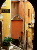 Village Laneway and House Walls, Roquebrune, Provence-Alpes-Cote d'Azur, France Photographic Print by David Tomlinson