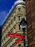 Street Sign at Place d&#39;Armes, Montreal, Quebec, Canada Photographic Print by Glenn Van Der Knijff