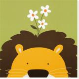 Cucú IX, León Reproducción en lienzo de la lámina por Yuko Lau